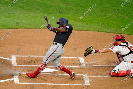 Washington Nationals' Howie Kendrick plays during a baseball game against the Philadelphia Phillies, in Philadelphia