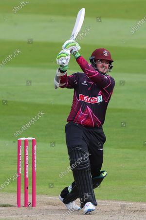 Steven Davies of Somerset plays a shot