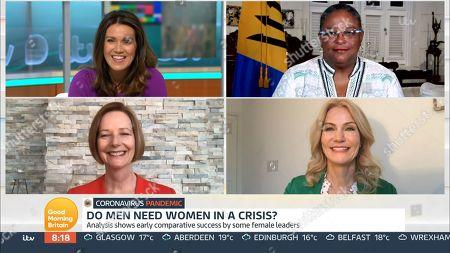 Stock Photo of Susanna Reid, Mia Mottley, Julia Gillard, Helle Thorning-Schmidt
