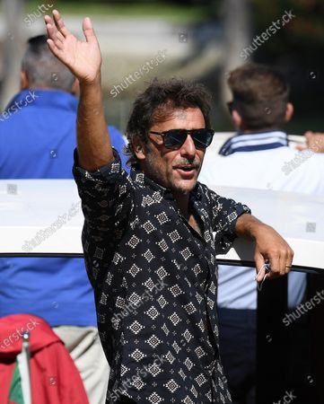 Adriano Giannini leaves Lido Beach during the 77th annual Venice International Film Festival, in Venice, Italy, 03 September 2020. The event is the first major in-person film fest to be held in the wake of the Covid-19 coronavirus pandemic. The 77th edition of the festival runs from 02 to 12 September 2020.