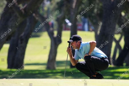 Spanish golfer Jose Maria Olazabal reacts during the first day of the Andalusias' Pro-Am Golf Masters tournament at Valderrama golf course in Sotogrande town, Cadiz province, southern Spain, 03 September 2020. The competition runs from 03 to 06 September.