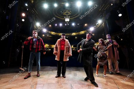 Paul Whitehouse and other members of the cast and crew of Only Fools and Horses The Musical on stage in an empty Theatre Royal Haymarket after making a 15 minute socially-distanced silent stand to show solidarity with those in the UK theatre industry who have lost their jobs and received no government support, highlight the lack of government guidance for the reopening of theatres, and to implore the Government to provide the industry with a date when theatres can reopen without social distancing.