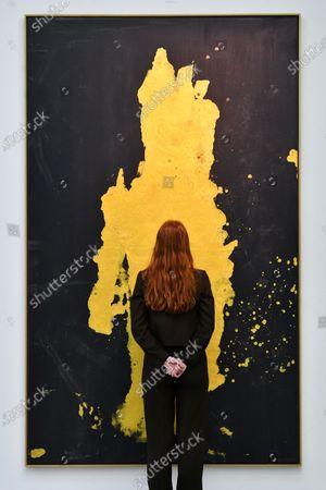 Georg Baselitz 'Darkness Goldness', Manomettere - aufbrechen 2019