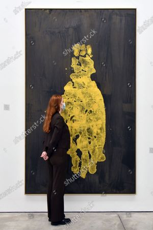 Editorial picture of Georg Baselitz 'Darkness Goldness' preview at White Cube Mason's Yard, London, UK - 03 Sep 2020