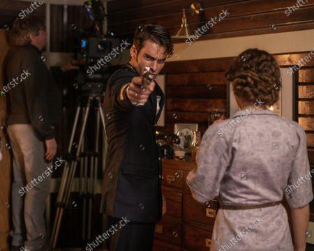 Stock Image of Jon Kortajarena as Nicolas Vazquez and Claudia Galan as Chantal