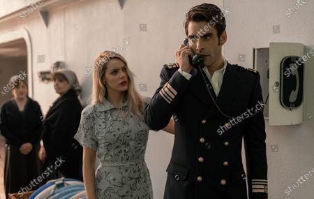 Stock Picture of Alejandra Onieva as Carolina Villanueva and Jon Kortajarena as Nicolas Vazquez