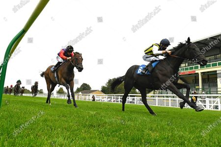 Winner of The British Stallion Studs EBF Quidhampton Maiden Fillies' Stakes Lady Hayes  (6) ridden by Jack Mitchell and trained by Roger Varian   during Horse Racing at Salisbury Racecourse on 3rd September 2020