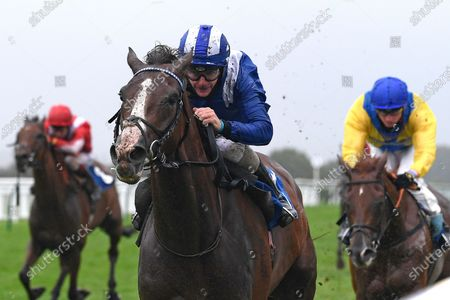 Winner of The Racing TV Handicap Nasraawy  (rails) ridden by Kieran OÕNeil and trained by John Gosden  during Horse Racing at Salisbury Racecourse on 3rd September 2020