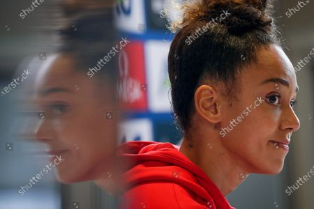 Katarina Johnson-Thompson of Britain attends a press conference of the IAAF Diamond League Memorial Van Damme athletics meeting in Brussels, Belgium, 03 September 2020. The Memorial Van Damme exhibition event will take place on 04 September 2020.