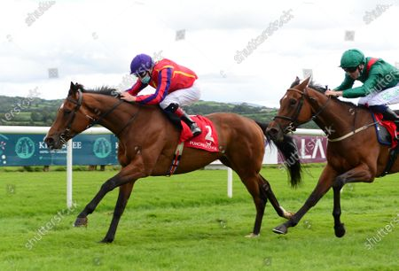 PUNCHESTOWN 3-September-2020. FAME AND ACCLAIM and Declan McDonogh win for owner Paul Redmond and trainer Joseph O'Brien from ELDAMA (Oisin Orr).