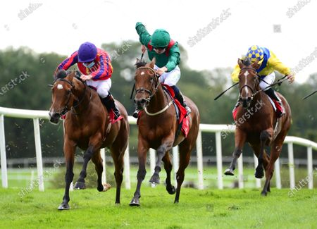 PUNCHESTOWN 3-September-2020. FAME AND ACCLAIM and Declan McDonogh (left) win for owner Paul Redmond and trainer Joseph O'Brien from ELDAMA (Oisin Orr).