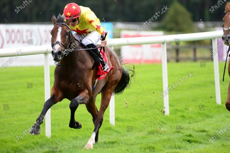PUNCHESTOWN 3-September-2020. LIFFEY RIVER and Shane Crosse win for owners Sun Bloodstock and trainer Joseph O'Brien.
