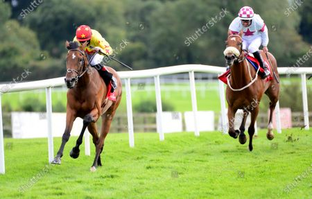 PUNCHESTOWN 3-September-2020. SAGRADA FAMILIA and Mikey Sheehy win for owners Sun Bloodstock and trainer Joseph O'Brien.