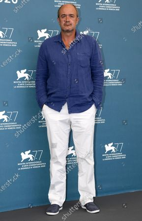 Boris Isakovic poses at a photocall for 'Quo Vadis, Aida?' during the 77th annual Venice International Film Festival, in Venice, Italy, 03 September 2020. The event is the first major in-person film fest to be held in the wake of the Covid-19 coronavirus pandemic. The 77th edition of the festival runs from 02 to 12 September 2020.