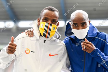 Mo Farah and Bashir Abdi