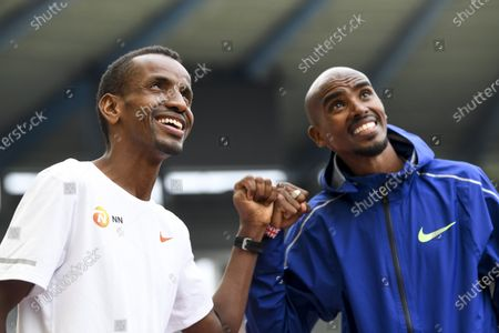 Stock Photo of Mo Farah and Bashir Abdi