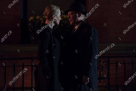 Laila Robins as Katarina Rostova and James Spader as Raymond 'Red' Reddington