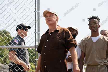 James Spader as Raymond 'Red' Reddington and Coy Stewart  as Vontae Jones