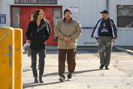 Megan Boone as Elizabeth Keen and James Spader as Raymond 'Red' Reddington