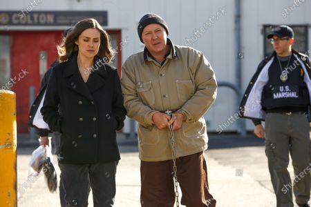 Stock Photo of Megan Boone as Elizabeth Keen and James Spader as Raymond 'Red' Reddington