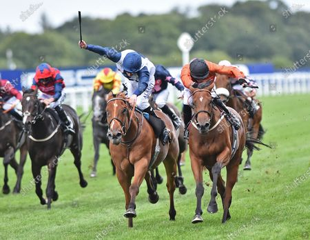 (R) Double Or Bubble (James Doyle) wins The Jim Barry Wines Handicap Stakes from (C) Sunset Breeze (Luke Morris). Photo © Hugh Routledge.