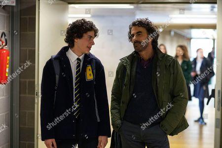 Mirko Trovato as Brando De Santis and Thomas Trabacchi as Tommaso Regoli