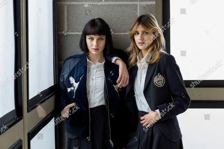Alice Pagani as Ludovica Storti and Benedetta Porcaroli as Chiara Altieri