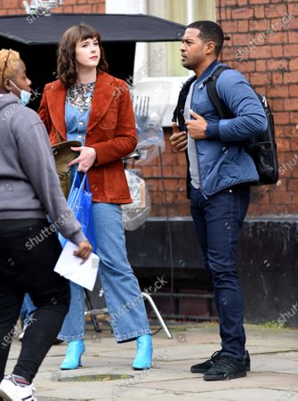 Alexandra Roach and Noel Clarke film Viewpoint in Manchester, the first ITV drama to resume filming.