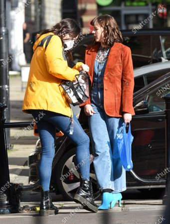 Alexandra Roach and Dominic Allburn film Viewpoint in Manchester, the first ITV drama to resume filming.