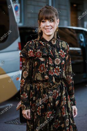 Editorial photo of Street style, Spring Summer 2020, Milan Fashion Week, Italy - 21 Sep 2019
