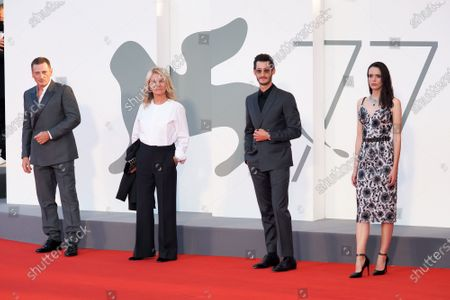 (L-R) Benoit Magimel, Nicole Garcia, Pierre Niney and Stacy Martin