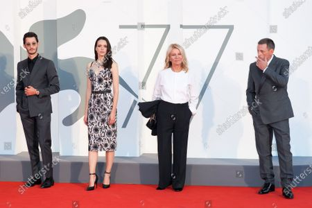 (R-L) Benoit Magimel, Stacy Martin, Nicole Garcia, Pierre Niney