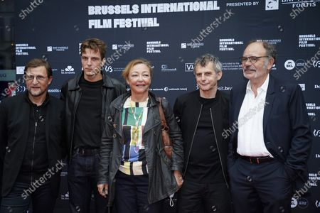 Brussels , 03/09/2020 Opening of the BRIFF - Brussels International Film Festival at the UGC DE BROUCKERE with the crew of the film 'DES HOMMES'Pix : Patrick Quinet  / Yoann Zimmer / Catherine Frot / Lucas Belvaux / Jean-Pierre DarroussinCredit : Daina Le Lardic / Isopix