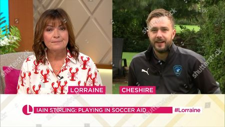 Lorraine Kelly and Iain Stirling