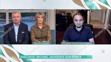 Stock Picture of Eamonn Holmes, Ruth Langsford and Michael Joseph Jackson Jr