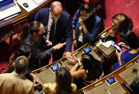 Editorial image of Discussion at the Senate on digital simplification and innovation decree, Rome, Italy - 04 Sep 2020