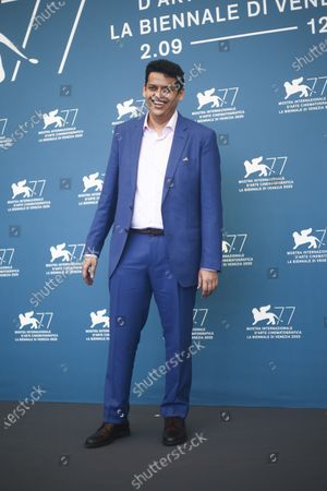 Chaitanya Tamhane poses for photographers at the photo call for the film 'The Disciple' during the 77th edition of the Venice Film Festival in Venice, Italy