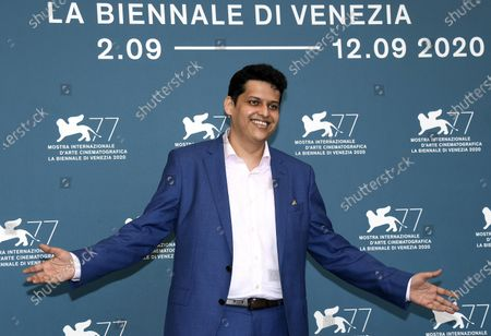 Chaitanya Tamhane attends a photocall for 'The Disciple' at the 77th annual Venice International Film Festival, in Venice, Italy, 04 September 2020. The event is the first major in-person film fest to be held in the wake of the Covid-19 coronavirus pandemic. Attendees have to follow strict safety measures like mandatory face masks indoors, temperature scanners, and socially distanced screenings to reduce the risk of infection. The public is barred from the red carpet, and big stars are expected to be largely absent this year. The 77th edition of the festival runs from 02 to 12 September 2020.