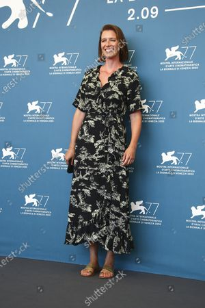 Producer Nicky Bentham poses for photographers at the photo call for the film 'The Duke' during the 77th edition of the Venice Film Festival in Venice, Italy