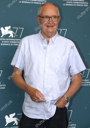 Jim Broadbent poses at a photocall for 'The Duke' during the 77th annual Venice International Film Festival, in Venice, Italy, 04 September 2020.The event is the first major in-person film fest to be held in the wake of the Covid-19 coronavirus pandemic. Attendees have to follow strict safety measures like mandatory face masks indoors, temperature scanners, and socially distanced screenings to reduce the risk of infection. The public is barred from the red carpet, and big stars are expected to be largely absent this year. The 77th edition of the festival runs from 02 to 12 September 2020.