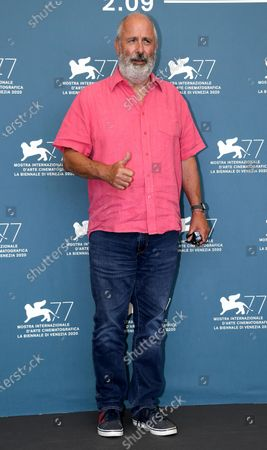 Roger Michell poses at a photocall for 'The Duke' during the 77th annual Venice International Film Festival, in Venice, Italy, 04 September 2020.The event is the first major in-person film fest to be held in the wake of the Covid-19 coronavirus pandemic. Attendees have to follow strict safety measures like mandatory face masks indoors, temperature scanners, and socially distanced screenings to reduce the risk of infection. The public is barred from the red carpet, and big stars are expected to be largely absent this year. The 77th edition of the festival runs from 02 to 12 September 2020.
