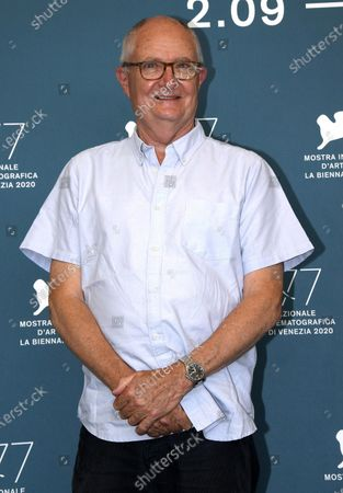 Jim Broadbent poses at a photocall for 'The Duke' during the 77th annual Venice International Film Festival, in Venice, Italy, 04 September 2020. The movie is presented out of competition at the festival running from 02 September to 12 September. The event is the first major in-person film fest to be held in the wake of the Covid-19 coronavirus pandemic. Attendees have to follow strict safety measures like mandatory face masks indoors, temperature scanners, and socially distanced screenings to reduce the risk of infection. The public is barred from the red carpet, and big stars are expected to be largely absent this year.