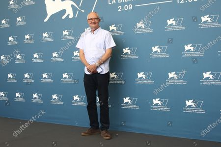 Jim Broadbent poses for photographers at the photo call for the film 'The Duke' during the 77th edition of the Venice Film Festival in Venice, Italy