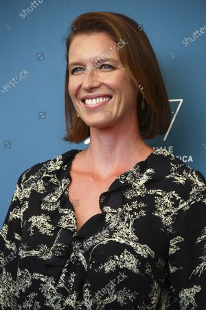 Nicky Bentham poses for photographers at the photo call for the film 'The Duke' during the 77th edition of the Venice Film Festival in Venice, Italy