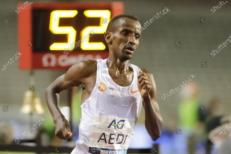Bashir Abdi of Belgium competes in the men's One Hour race at the Memorial Van Damme IAAF Diamond League international athletics meeting in Brussels, Belgium, 04 September 2020.