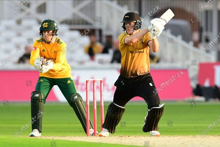 Tom Taylor of Leicestershire during the Vitality T20 Blast North Group match between Nottinghamshire County Cricket Club and Leicestershire County Cricket Club at Trent Bridge, Nottingham