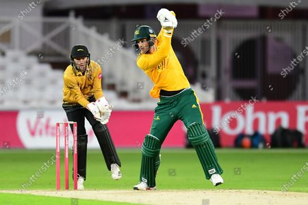 Alex Hales of Nottinghamshire during the Vitality T20 Blast North Group match between Nottinghamshire County Cricket Club and Leicestershire County Cricket Club at Trent Bridge, Nottingham