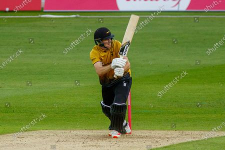 Tom Taylor batting during the Vitality T20 Blast North Group match between Notts Outlaws and Leicestershire Foxes at Trent Bridge, Nottingham