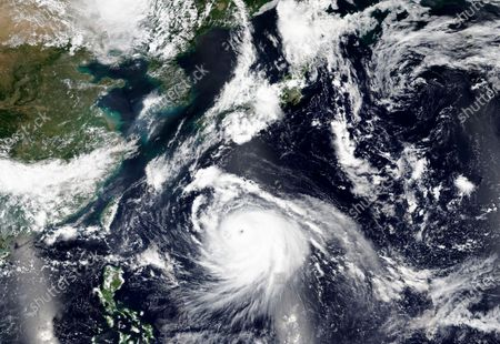 This, satellite image released by NASA Worldview, Earth Observing System Data and Information System (EOSDIS) shows Typhoon Haishen, or Sea God in Chinese, approaching Japan's southern regions this weekend on the heels of an earlier storm that injured dozens of people in the country and on the Korean Peninsula
