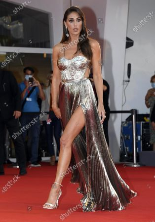 Argentinian model Cecilia Rodriguez arrives for the premiere of 'Padrenostro' during the 77th annual Venice International Film Festival, in Venice, Italy, 04 September 2020. The movie is presented in the Official Competition 'Venezia 77' at the festival running from 02 September to 12 September. The event is the first major in-person film fest to be held in the wake of the Covid-19 coronavirus pandemic. Attendees have to follow strict safety measures like mandatory face masks indoors, temperature scanners, and socially distanced screenings to reduce the risk of infection. The public is barred from the red carpet, and big stars are expected to be largely absent this year.